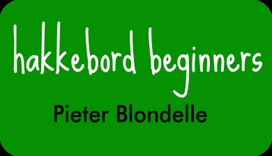 hakkebord beginners bij Pieter Blondelle