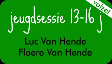 jeugdsessie bij Luc Van Hende en Floere Van Hende
