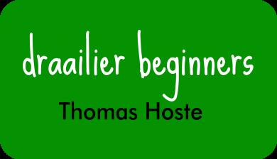 draailier beginners bij Thomas Hoste